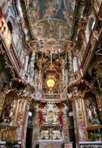 Asam Church, Bavaria, here used as a sermon illustration